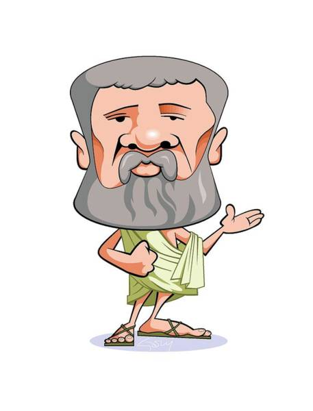 Dialogue Photograph - Plato by Gary Brown/science Photo Library