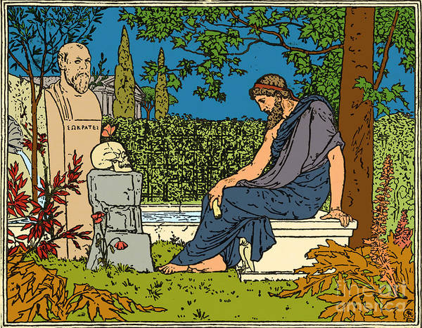 Dialogue Photograph - Plato, Greek Philosopher, At Socrates by Science Source
