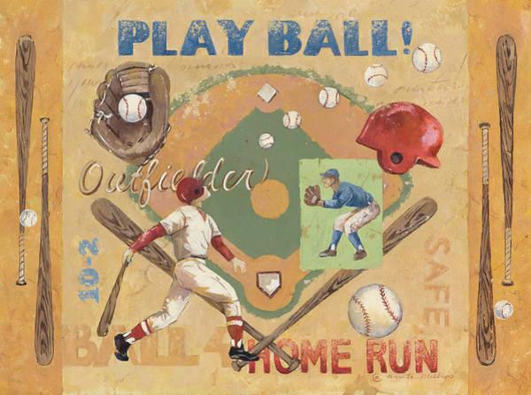 Baseball Painting - Play Ball by Anita Phillips