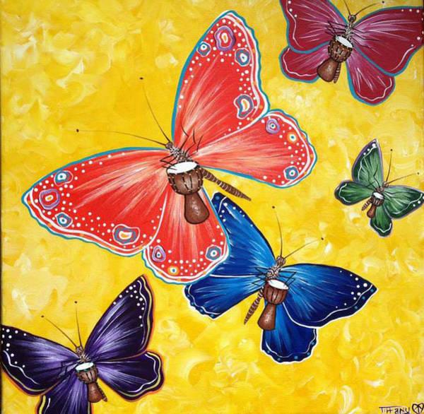 Djembe Wall Art - Painting - Play by Tiffany Aldridge