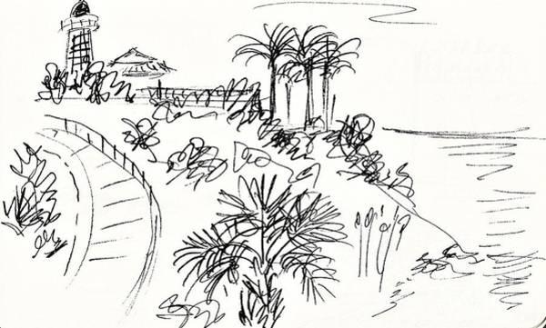 Drawing - Playa Carvajal In Benalmadena by Chani Demuijlder