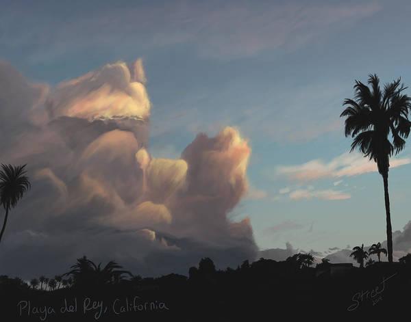 Lax Painting - Playa Del Rey Sky by Jen Street