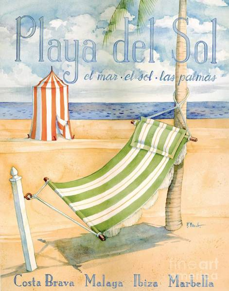 Wall Art - Painting - Playa Del Sol by Paul Brent