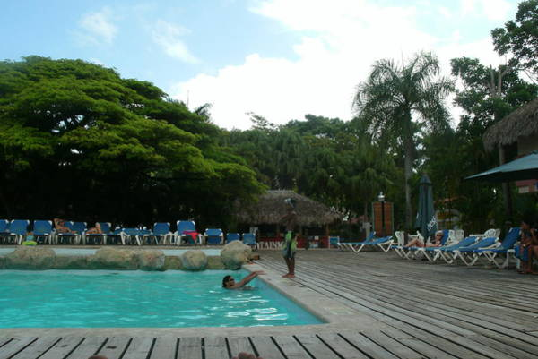 Puerto Plata Photograph - Playa Dorada Resort Pool And Bar by Elvis Navarro