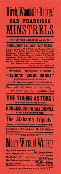 Painting - Playbill, 1873 by Granger