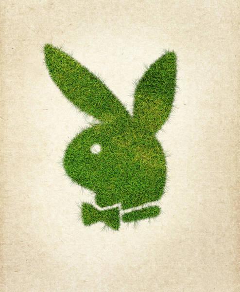 Wall Art - Digital Art - Playboy Grass Logo by Aged Pixel