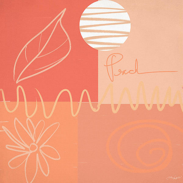Fall Colors Painting - Playful Peach by Lourry Legarde
