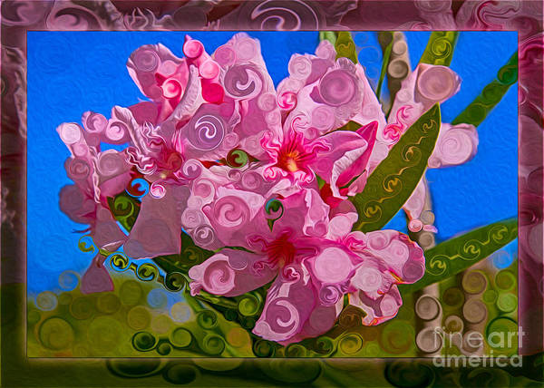 Painting - Playful Plumeria Abstract Garden Art Painting by Omaste Witkowski
