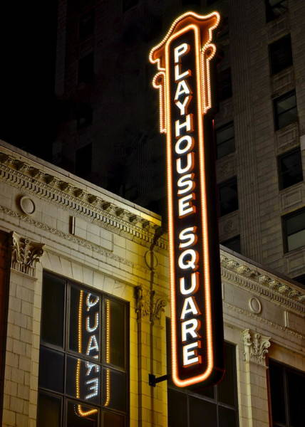 Playhouse Photograph - Playhouse Square by Frozen in Time Fine Art Photography