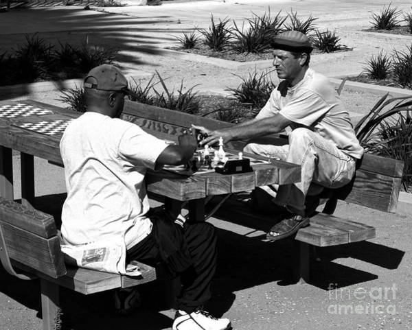 Roller Blades Photograph - Playing Chess In Venice by Doc Braham