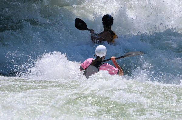 Photograph - Playing In Rapids by Les Palenik