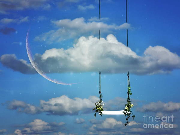 Art Print featuring the photograph Playing In The Clouds by Andrea Kollo
