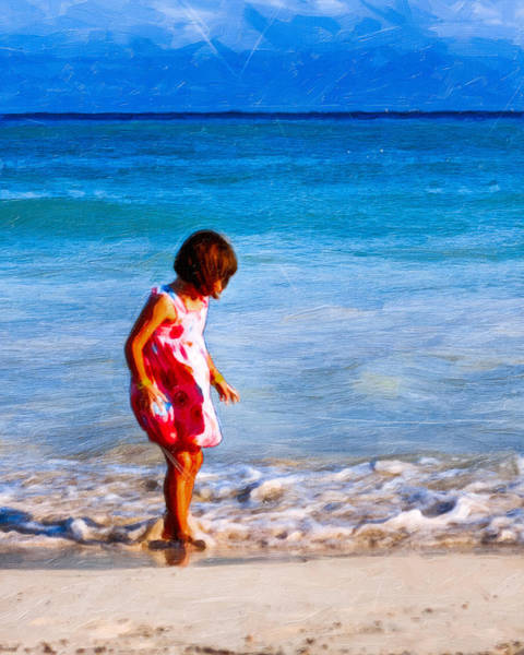 Photograph - Playing On The Beach - Timeless Childhood by Mark E Tisdale
