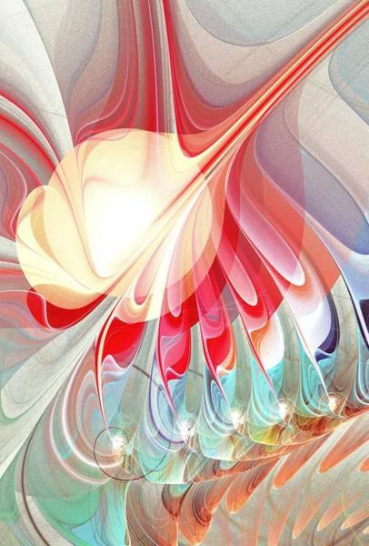 Color Burst Digital Art - Playing With Colors by Anastasiya Malakhova