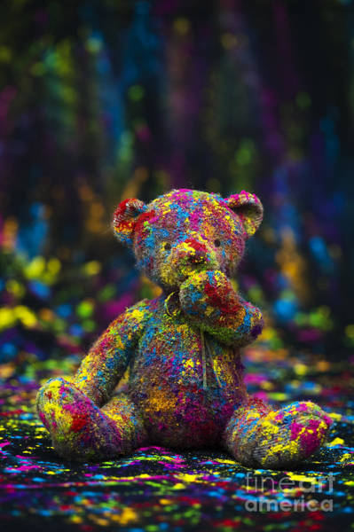 Coloured Photograph - Playing With Coloured Powder by Tim Gainey
