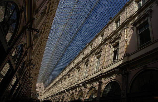 Photograph - Playing With The Shadows - Brussels Belgium Royal Galleria by Georgia Mizuleva