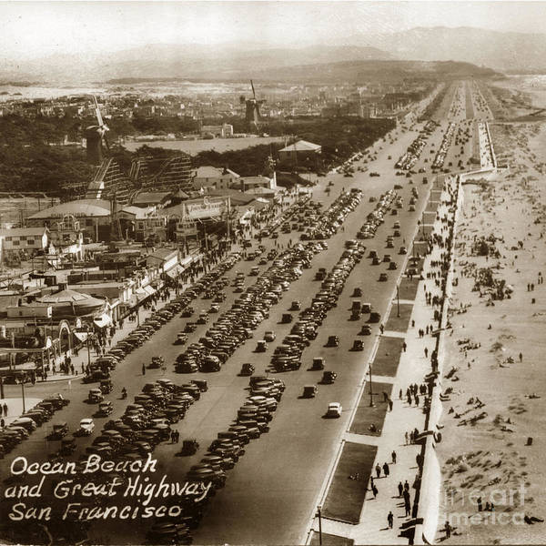 Photograph - Playland-at-the-beach From Sutro Heights Park San Francisco  Circa 1948 by California Views Archives Mr Pat Hathaway Archives