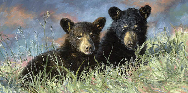 Painting - Playmates by Lucie Bilodeau