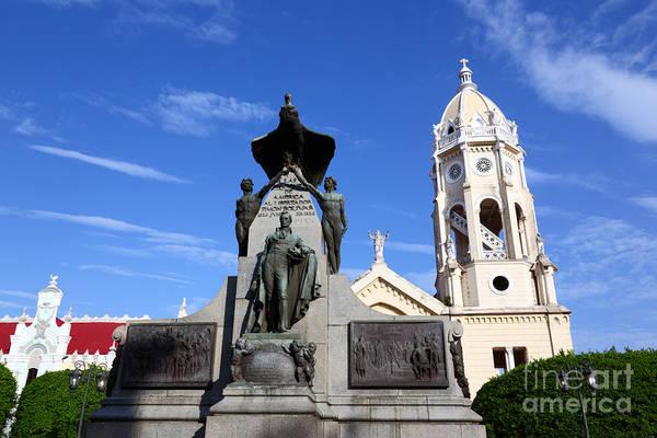 Photograph - Plaza Bolivar Panama City by James Brunker