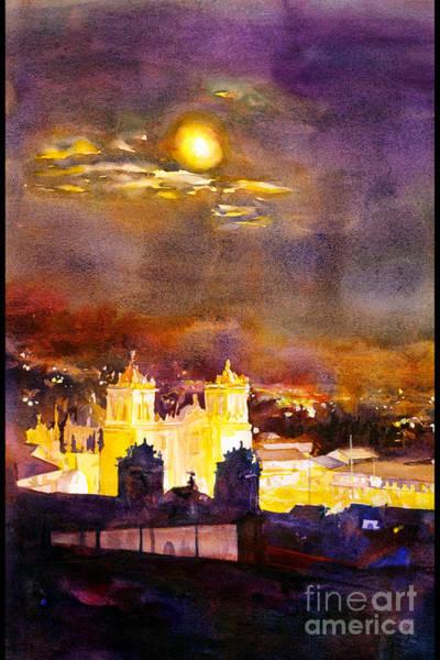 Wall Art - Painting - Plaza De Armas- Cusco by Ryan Fox