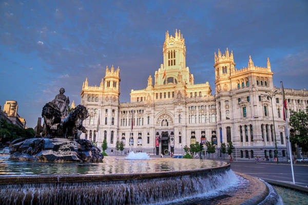 Wall Art - Photograph - Plaza De Cibeles Palace  Madrid, Spain by Charles Bowman