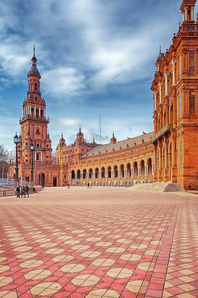 Town Square Wall Art - Photograph - Plaza De Espana Seville by Joan Carroll
