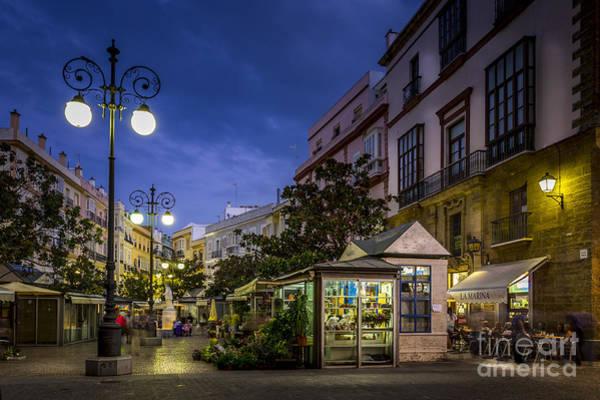 Plaza De Las Flores Cadiz Spain Art Print