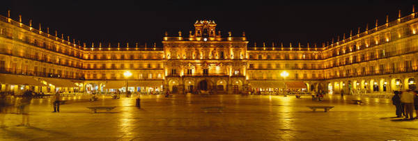 After Dark Photograph - Plaza Mayor Castile & Leon Salamanca by Panoramic Images