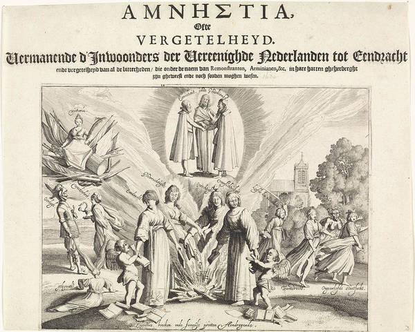 Unity Drawing - Pleading For Unity And Reconciliation, 1623 by Jan Van De Velde Ii And Jan Jansz Starter And Jan Amelisz