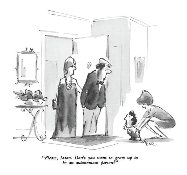 Grown Up Drawing - Please, Jason. Don't You Want To Grow Up To Be An by Lee Lorenz