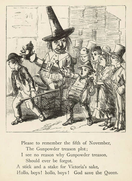 Fireworks Drawing - 'please To Remember The Fifth by Mary Evans Picture Library