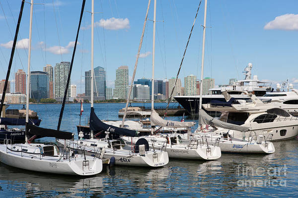 Photograph - Pleasure Boats In North Cove Marina I by Clarence Holmes