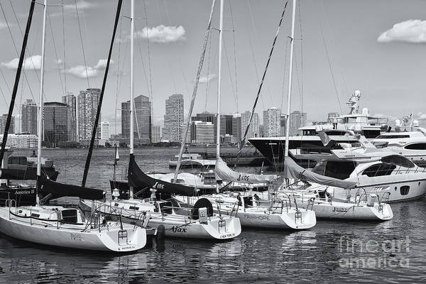 Photograph - Pleasure Boats In North Cove Marina II by Clarence Holmes