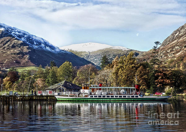 Glenridding Wall Art - Photograph - Pleasure Cruiser On Ullswater by Linsey Williams