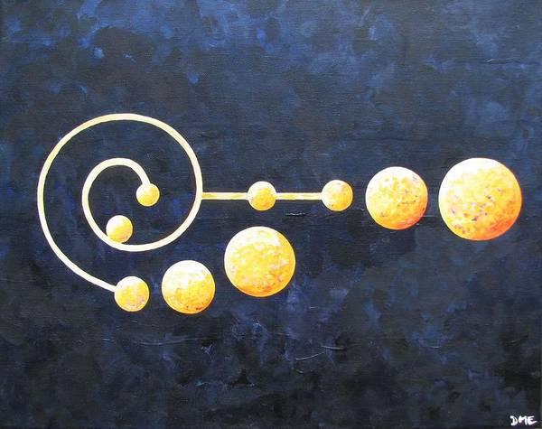 Pleiades Painting - Pleiades Crop Circle by Dianne Margaret Evans
