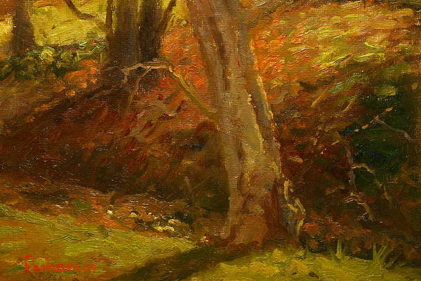 Nz.impressionist Painting - Plein Air Winter Trunks by Terry Perham