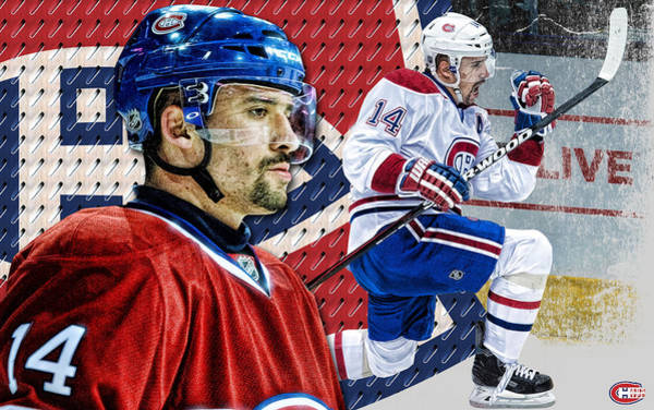 Montreal Canadiens Digital Art - Plekanec Poster by Nicholas Legault