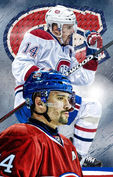 Montreal Canadiens Digital Art - Plekanec Phone Cover by Nicholas Legault