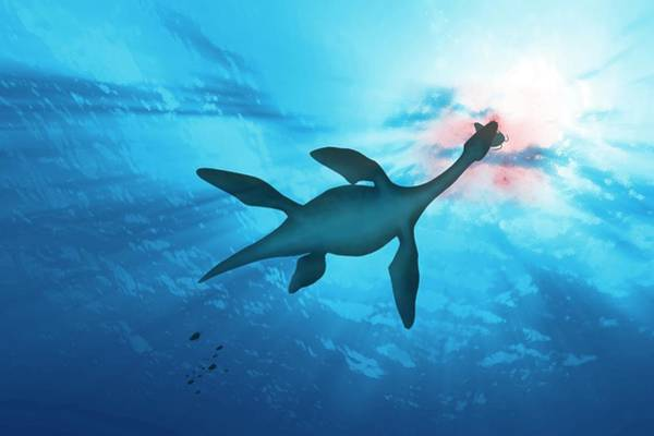 Extinction Photograph - Plesiosaur Marine Reptile by Mark Garlick/science Photo Library