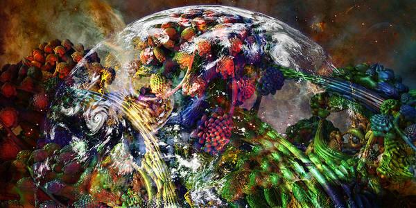 Fractal Landscape Digital Art - Plethroa by Tim Casara