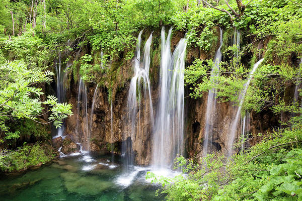 Environmental Conservation Photograph - Plitvice Lakes, National Park, Waterfall by Fotogaby