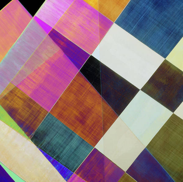Wall Art - Photograph - Plm Of Strips Of Cellophane by Dr Jeremy Burgess/science Photo Library