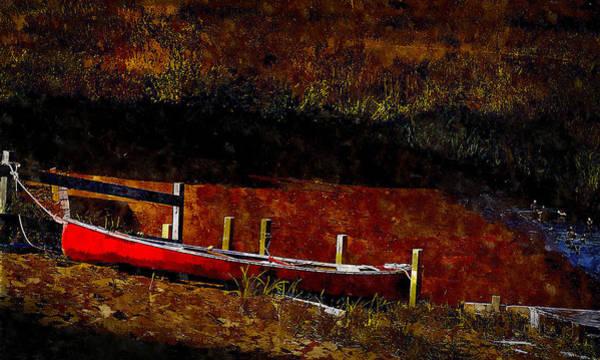 Painting - Plum Island Canoe by Rick Mosher