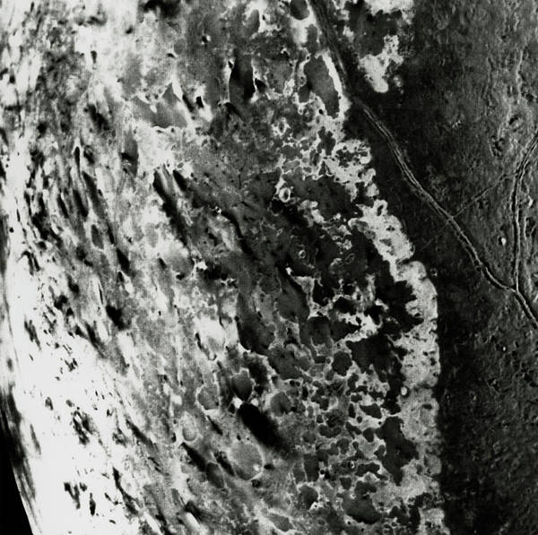 Voyager Photograph - Plumes Of Dark Material On Surface Of Triton by Nasa/science Photo Library