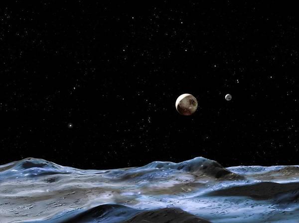 Hydra Wall Art - Photograph - Pluto And Charon by Nasa/esa/g. Bacon (stsci)/science Photo Library