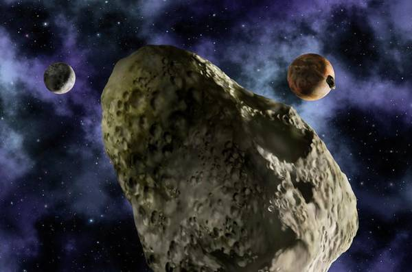 Hydra Wall Art - Photograph - Pluto And Its Moons by Lynette Cook