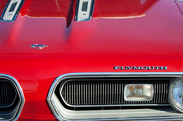 Plymouth Photograph - Plymouth Barracuda Grille Emblem by Jill Reger