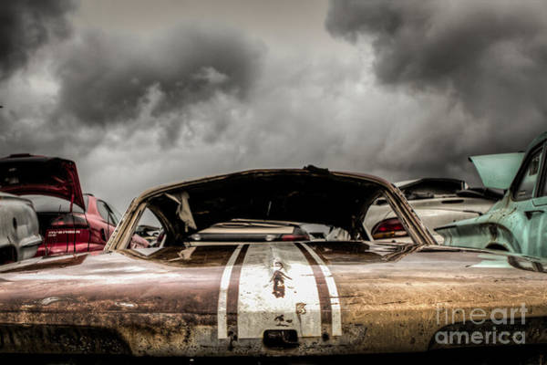 Wrecking Yard Photograph - Plymouth Barracuda by Mark Brooks