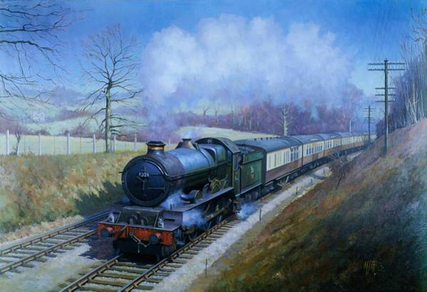 Railway Painting - Plymouth Bound. by Mike Jeffries