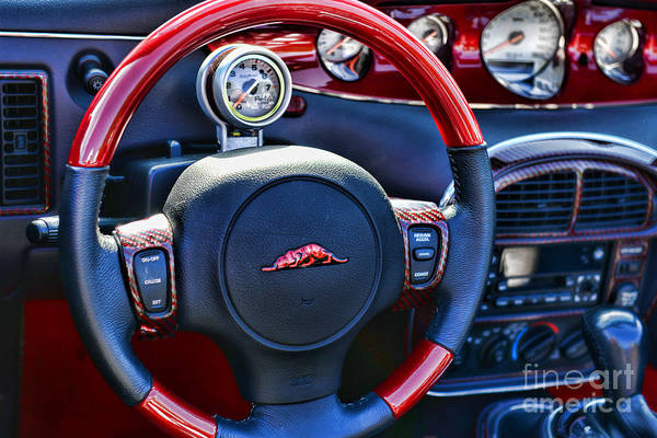 Prowler Photograph - Plymouth Prowler Steering Wheel by Paul Ward
